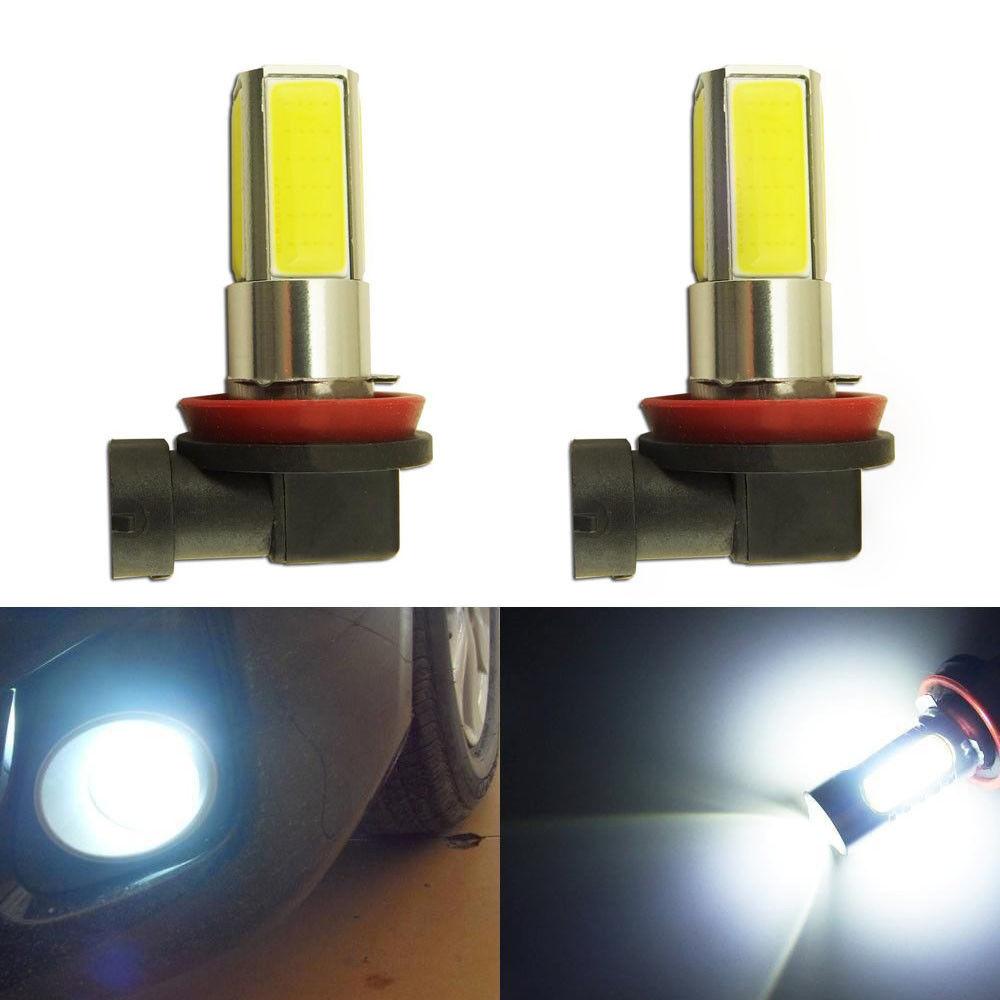 New 2Pcs 2000LM 300mA White 360 degreeLight Angel 6000K H8 H11 COB LED High Power Fog Driving Headlight Light Lamp Bulb 12V 10W(China (Mainland))