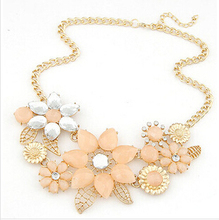 Satr Jewelry 2014 New Vintage Jewelry Flower Choker  Shourouk Charm Rhinestone Retro Statement Necklaces & Pendants Gift 76