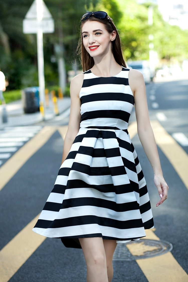 White and black designer dresses