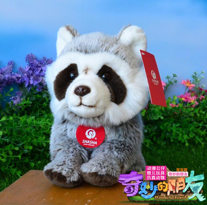 Genuine Raccoon Doll Plush Bears Toys Simulation Animal Lovely Children Gift(China (Mainland))