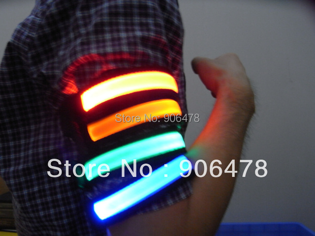 Promotion+Free shipping LED Arm bands Lighting Armbands Fashion Leg Safety Bands for Cycling/Skating/Party/Shooting 6 Colors