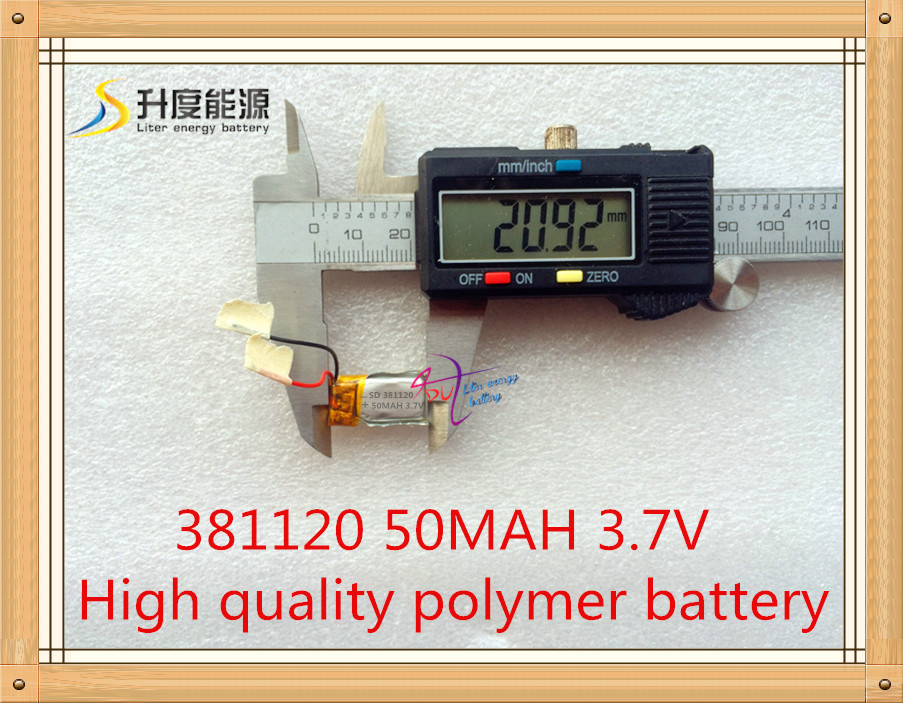 Li-PO battery 381120 3.7v 50mAh Lithium polymer Rechargeable Battery Good Quality OEM Battery For Blueteeth(China (Mainland))