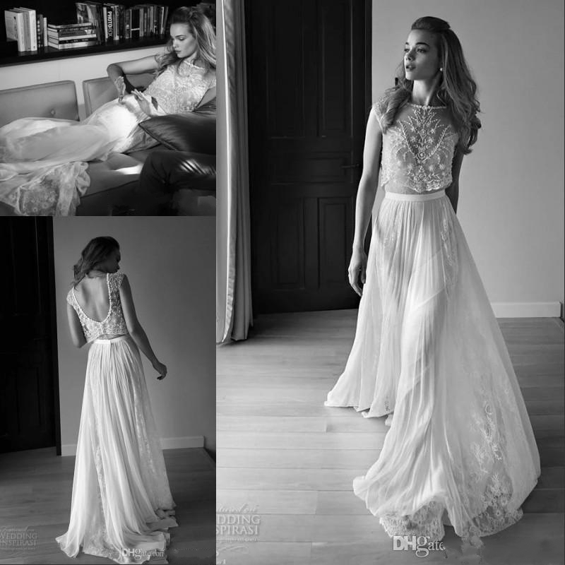 2016 lace vintage beach bohemian wedding dresses plus size for Vintage beaded lace wedding dress