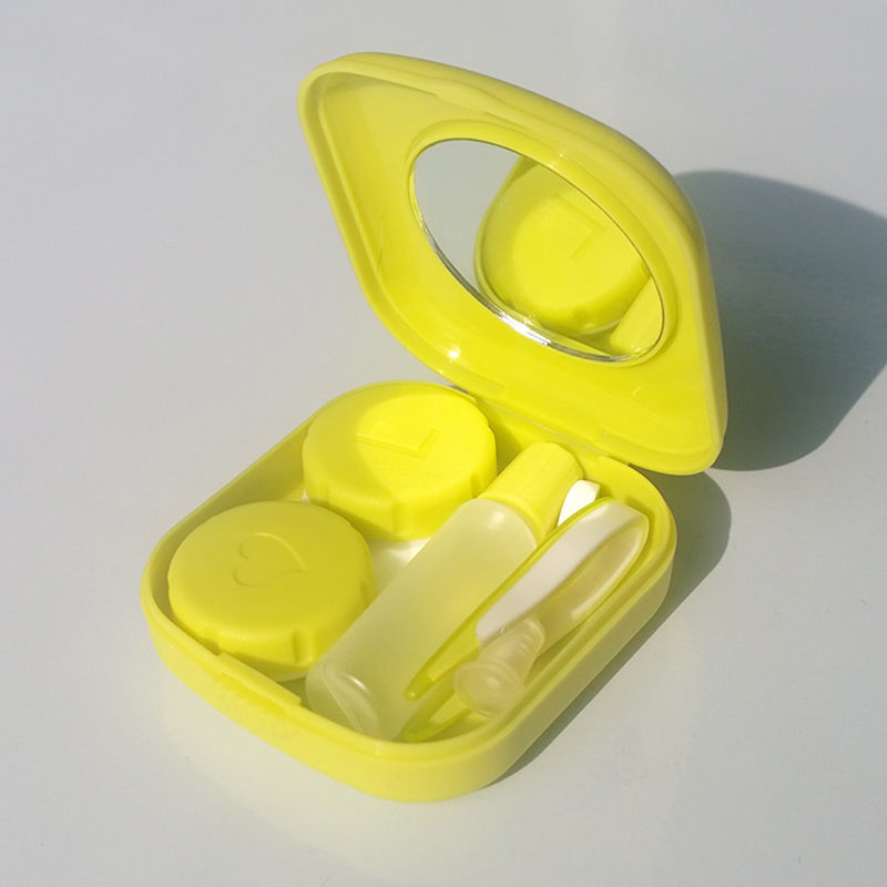 Porfessional Pocket Mini Contact Lens Case Travel Kit Easy Carry Mirror Container Holder Free Shipping