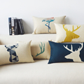 Hot Sale Nordic Cotton The Deer And The Geometric Almofada Cojines 45Cmx45Cm Square Home Decor Houseware