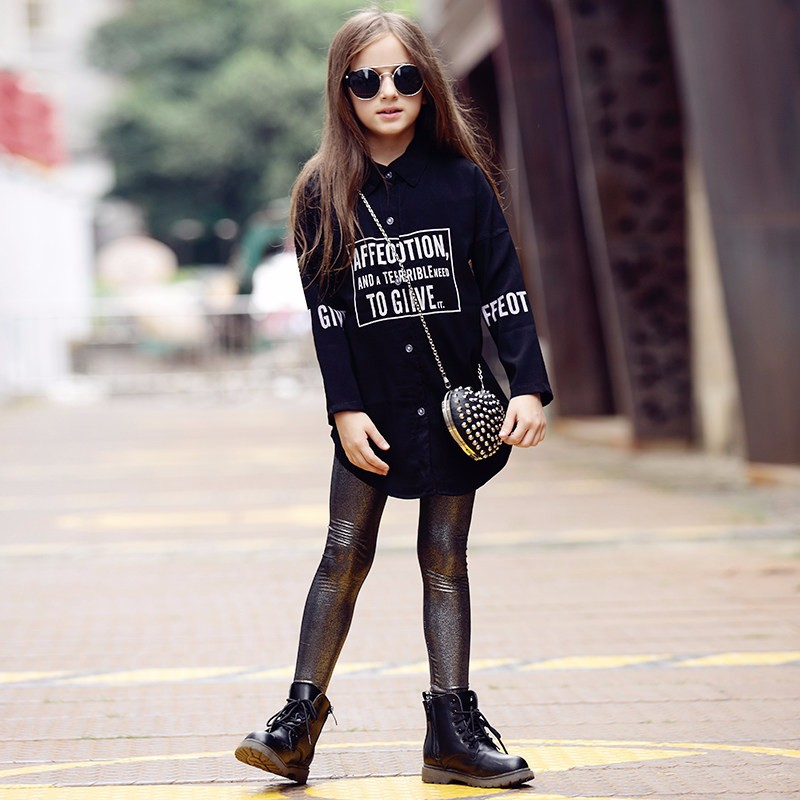 2016 Latest Blouse for Teen School Girls White Blouse Children Shirt Fashion Clothing for Age5 6 7 8 9 10 11 12 13 14T Years Old