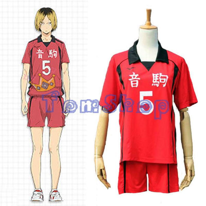 Haikyuu!! Nekoma High School #5 Kenma Kozume Cosplay Costume Volleyball Team Jersey Sports Wear Uniform Size M-XXL Free Shipping(China (Mainland))