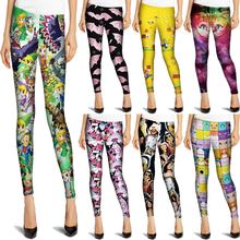 EAST KNITTING 2015 Hot Sale New Arrival Novelty 3D Printed Fashion Women Leggings Space Leggins Tie Dye Fitness Pant(China (Mainland))