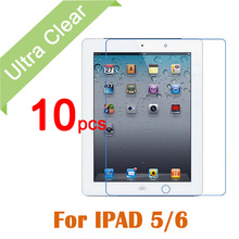 10pcs/lot For iPad Air 1 23 Clear HD Glossy LCD Screen Protector For Apple iPad 5 6 Tablet PC Transparent Protective Film +cloth