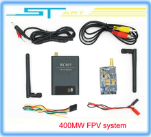Low shipping fee FPV 5.8G 400mw 8 Channel wireless 5.8Ghz AV Audio Video TX&RX Transmitter and Receiver system RC805 & TX305