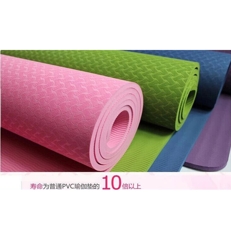 2015 New Arrival 8mm Thick Beginner Non-Slip Yoga Mat Exercise Fitness Lose Weight Exercise Mat Body Building mats  Wholesale