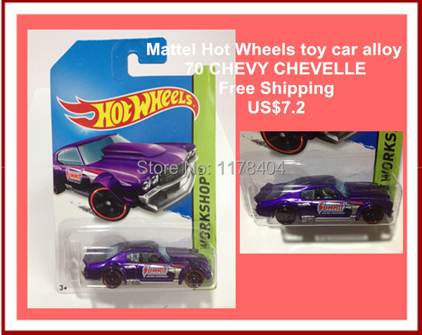 Free Shipping car model, 1:64 car toys, children's toys, alloy car Hot Wheels PURPLE 70 CHEVY CHEVELLE(China (Mainland))