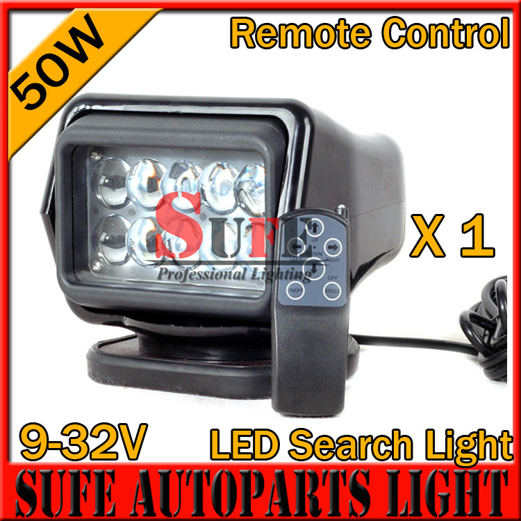50W CREE LED REMOTE CONTROLLER SPOT LIGHT,WIRELESS LED SEARCH LIGHT,BLACK COLOR FOR FISHING HUNTING BOAT MARINE,4x4 OFF ROAD USE(China (Mainland))