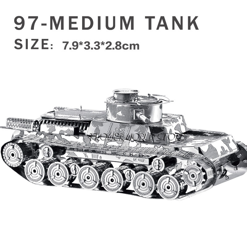 New creative 3D puzzles 3D metal model Creative DIY Tank Jigsaws Adult/Children gifts toys Sherman Tank Perfect details And many(China (Mainland))