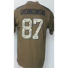 100% Stitched Men's 11 Julian 12 Tom 87 Rob Brady Adult Edelman Rob Gronkowski Army green general Fast Free Shipping(China (Mainland))