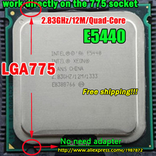 INTEL XEON E5440 2.83GHz/12M/1333Mhz/CPU equal to LGA775 Core 2 Quad Q9550 CPU,works on LGA775 mainboard no need adapter