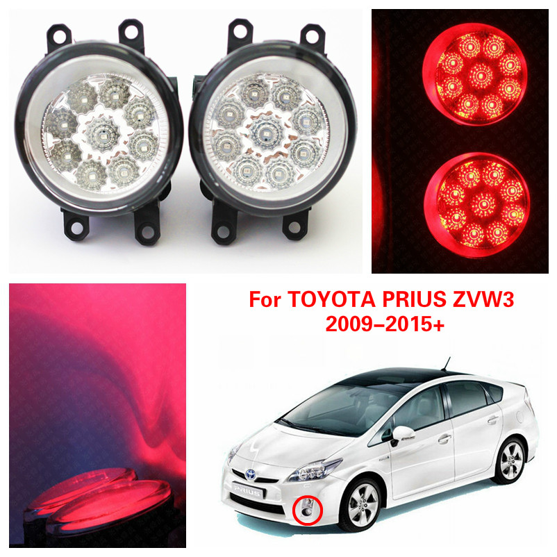 2016 Rushed External Lights Top Fashion Car Styling For Toyota Prius Zvw3 2009-2015+ Led Fog Lamp Drl H11 12v 4.5w Car-covers(China (Mainland))