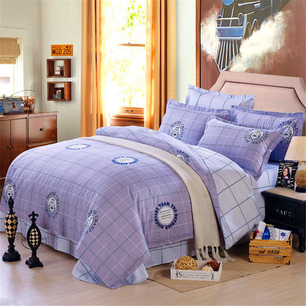 Фотография Matts boy Bedding Sets 4pc No Comforter, 128x68 Cotton 100% Kids Duvet Cover, Queen Size Princess Bedlinen