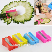 Food Facial beauty cucumber slicer Carrot Cucumber Sharpener Peeler Kitchen Tool spiral Vegetable Slicer with mirror(China (Mainland))