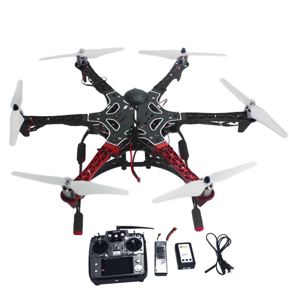 6-Axle RC Aircraft Hexacopter Helicopter RTF Drone with AT10 TX/RX 550 Frame GPS APM2.8 Flight Controller Battery F05114-AQ(China (Mainland))