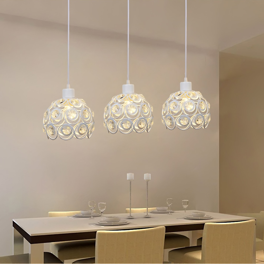 Led pendant lamp three head light dining room modern brief for Dining room 3 pendant lights