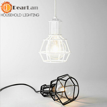 Free shipping American Loft Vintage Lamps Personality Balcony Wrought Iron Pendant Lights,Vintage Edison Pendant Lamps(DF-50)(China (Mainland))