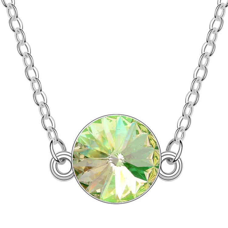 High quality T104562 Austrian crystal necklace - Xi Yuan ( Glow Green ) over $15 mixed order free shipping(China (Mainland))