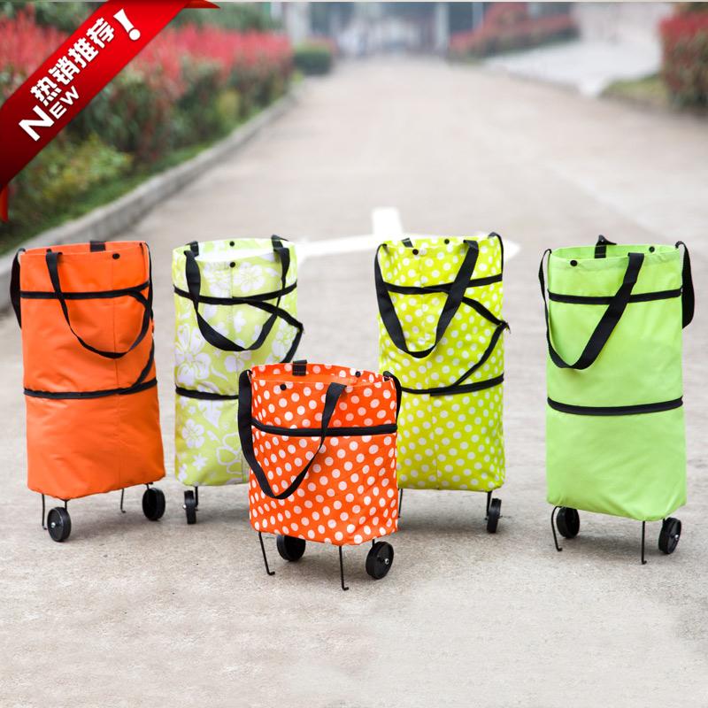 Foldable bag portable old supermarket shopping bag shopping cart travel bags storage box(China (Mainland))