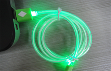 m crystal led light Micro USB Cable Sync Data Charger Cables for iphone5 5s 6 6s for Samsung for HTC Android mobile phone