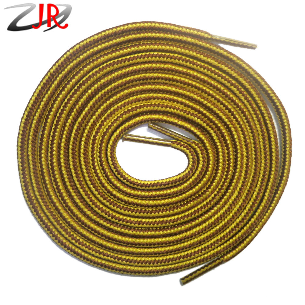 YJY 2 Pair Pack Brown Yellow Mixed Color Round Shoelaces Fits All Shoes (Two Lengths Can Choose: 120 CM or 140 CM)<br><br>Aliexpress