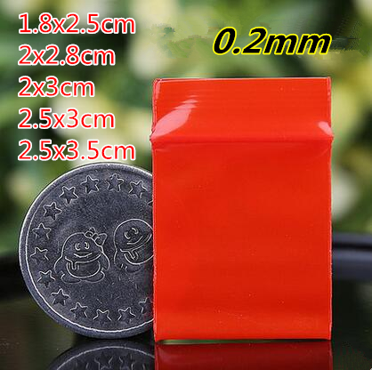 40red color small size Self Sealing Zip Lock Bags/ jewelry bags/ Plastic Packaging bags - Ava Liang's Packing Store store