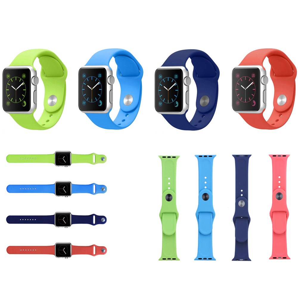 38/42mm Colorful High Quality Soft Silicon Rubber Iwatch Band Women And Men Fashion Watch Wrist Belft Strap Metal Buckle I11.(China (Mainland))