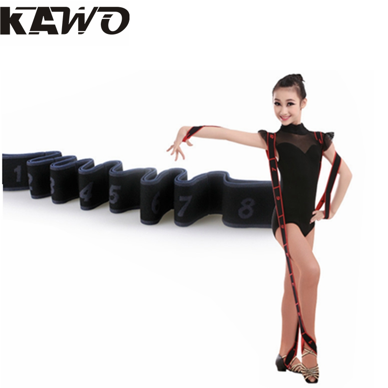 1pcs 4 Colors 90x4cm Children Latin Elastic Band Girls Yoga Tension Belt Adult Practice Girdle Dance Training With Correct(China (Mainland))