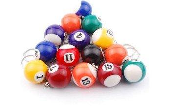 Fashion Billiards Pendant Keychain, Mini Billiard Key Ring, Snooker Table Ball Key Chains
