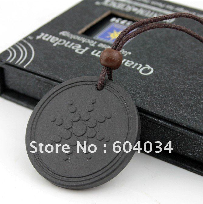 Free shippng 50% sales Quantum Science Scalar Energy Pendant Necklace 2500-3500cc with energy card and box(Hong Kong)