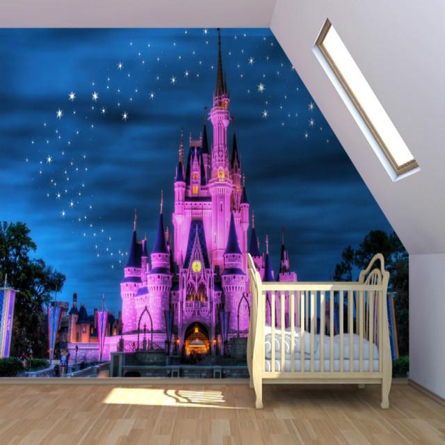Buy mural fairytale castle mural for Castle wall mural wallpaper