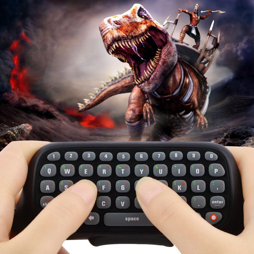 New Arrival Black Bluetooth Wireless Messenger Chatpad Keyboard Keypad Text Pad for Xbox 360 Xbox360 Controller Free Shipping(China (Mainland))