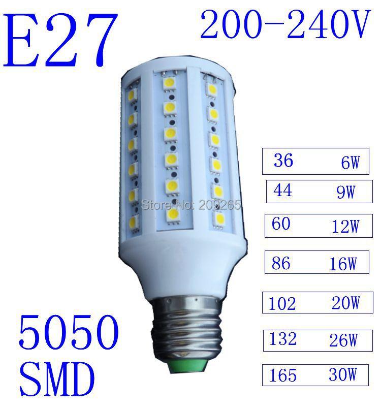 5pcs/lot Led lights White/Warm White E27 220V lampada led lamps lampadas de led 220v para casa led lamp e27 220v