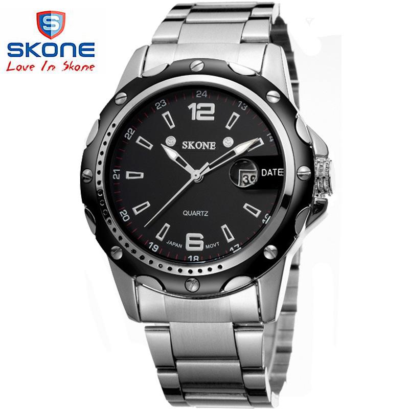 Top sale! Brand SKONE  brand fashion watch men quartz watch men full steel watch,military watches Original JAPAN Quartz