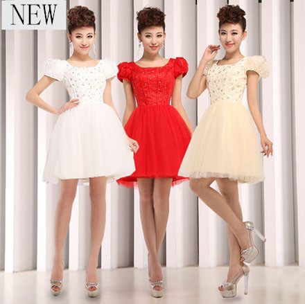 Bridesmaids Dresses With Sleeves For Under 100 - Wedding Short Dresses
