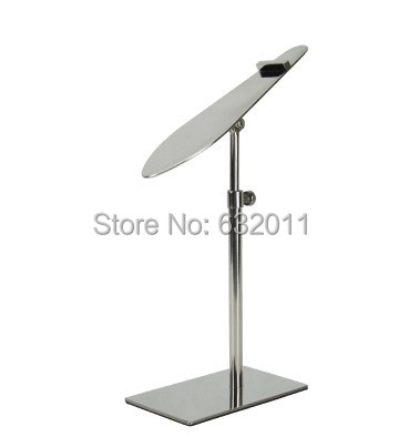 Mirror silvery boutique shoes showing stand sandals high heel shoes display holder metal store window display rack(China (Mainland))