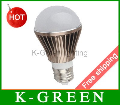 5X Wholesale led lamp bulb 5W good quality LED lighting with factory direct supply free shipping(China (Mainland))