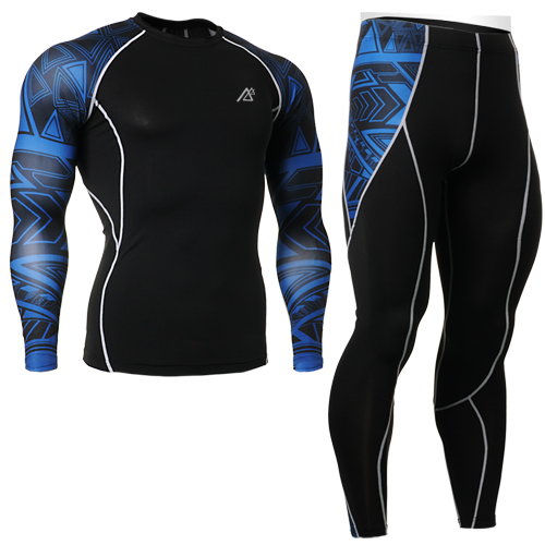 2016 New Arrivals mens Long Sleeves Compression Shirts sets blue Compression tights suit Fitness Running GYM Yoga Sets<br><br>Aliexpress