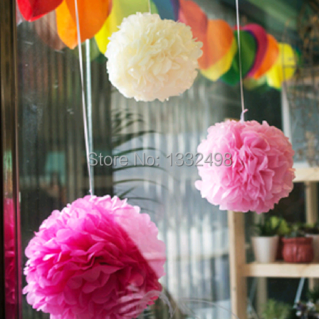 acheter grandes 100 pcs 16 39 39 40 cm pom pom boule papier de soie pompons fleur. Black Bedroom Furniture Sets. Home Design Ideas
