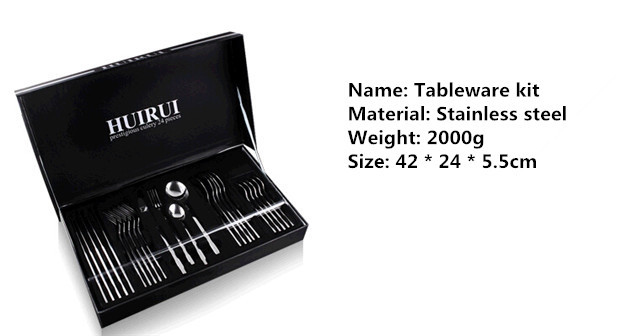 Buy New high-quality Western-style tableware / steak knife, Western fork, spoon / fine 24 kit / stainless steel /2000g cheap