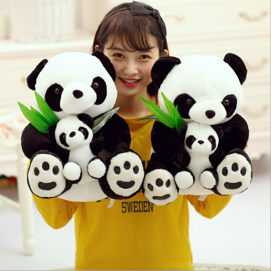 22CM hight Baby toys mother and the kids toys panda plush toy lovely doll stuffed toy perfect gift for children juguete,pokemon(China (Mainland))