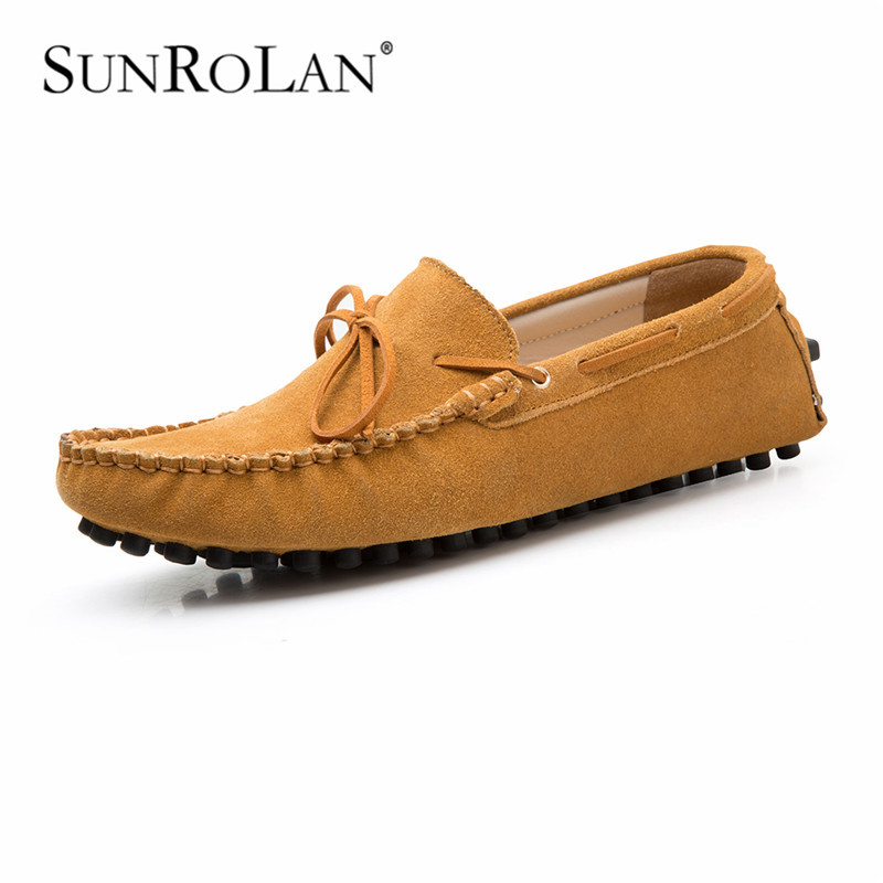 Men Casual Shoes Genuine Leather 2015 Driving Moccasins Slip Mens Boat Loafers 2017 - SHOES COUNTRY store