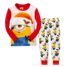 Children's Pyjamas Spring Summer Boys Pijamas 14 Colors Cartoon Minions pyjama Baby girl pyjama Kids clothing set boys sets 2-7T