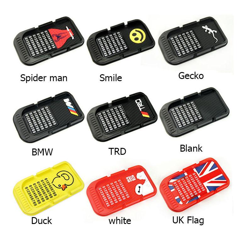 New Universal Batman logo Car Dashboard Anti Slip Mat Non-slip Pad For Key Cell Phone Iphone Smart Mobile phone GPS Holders(China (Mainland))
