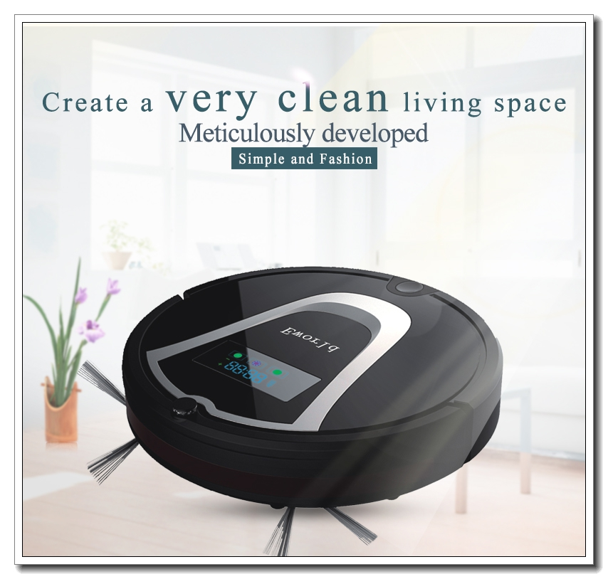 Eworld ABS Material Auto Vacuum Cleaners,Auto Recharging Vacuum Cleaners ,Floor Cleaner with Mop Function and 0.6L Dust Tank(China (Mainland))